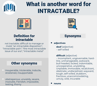 intractable, synonym intractable, another word for intractable, words like intractable, thesaurus intractable