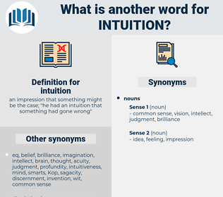 intuition, synonym intuition, another word for intuition, words like intuition, thesaurus intuition
