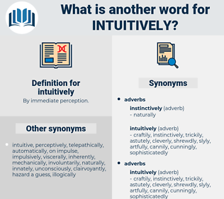 intuitively, synonym intuitively, another word for intuitively, words like intuitively, thesaurus intuitively
