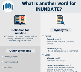 inundate, synonym inundate, another word for inundate, words like inundate, thesaurus inundate