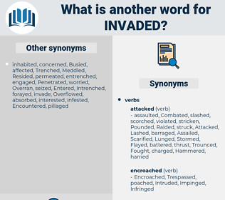 Invaded, synonym Invaded, another word for Invaded, words like Invaded, thesaurus Invaded