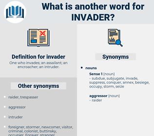 invader, synonym invader, another word for invader, words like invader, thesaurus invader