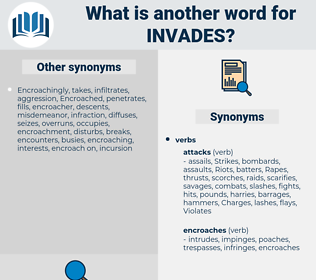 invades, synonym invades, another word for invades, words like invades, thesaurus invades