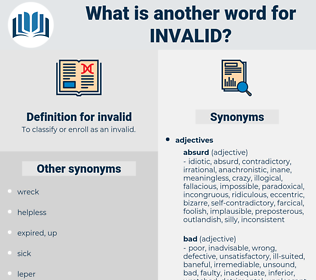 invalid, synonym invalid, another word for invalid, words like invalid, thesaurus invalid