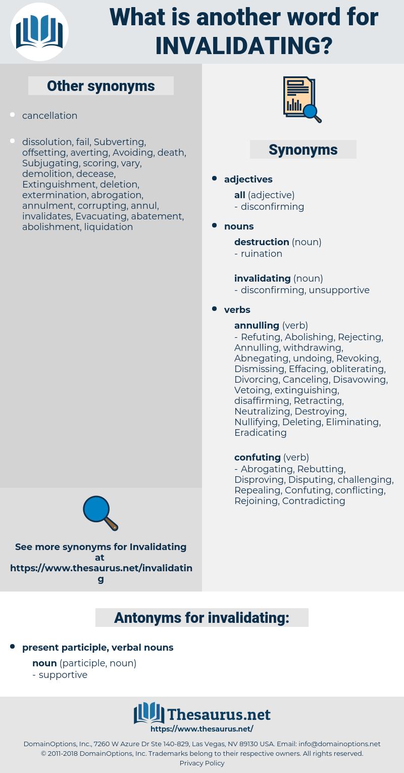 invalidating, synonym invalidating, another word for invalidating, words like invalidating, thesaurus invalidating