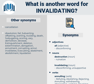 invalidating, synonym invalidating, another word for invalidating, words like invalidating, thesaurus invalidating