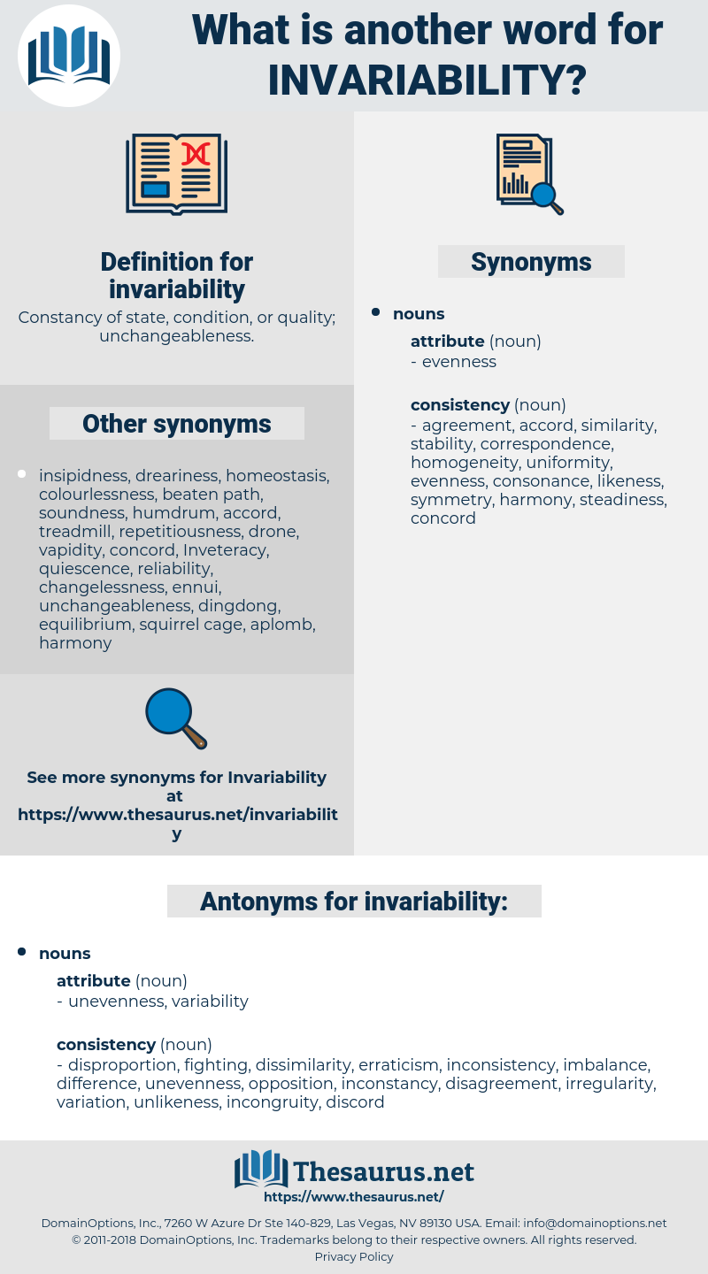 invariability, synonym invariability, another word for invariability, words like invariability, thesaurus invariability
