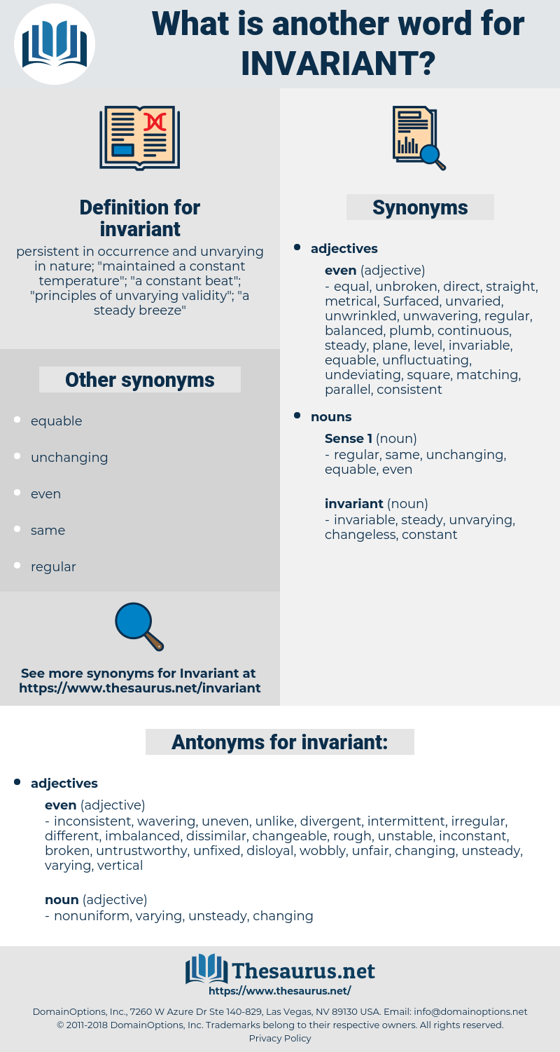 invariant, synonym invariant, another word for invariant, words like invariant, thesaurus invariant