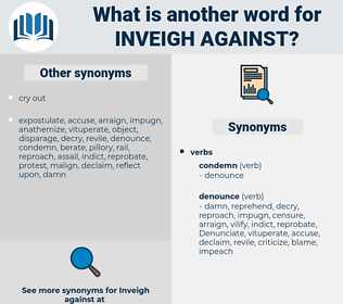 inveigh against, synonym inveigh against, another word for inveigh against, words like inveigh against, thesaurus inveigh against