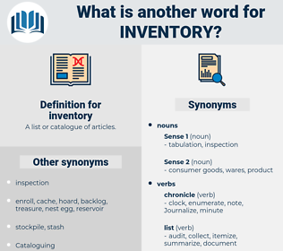 synonyms for inventory thesaurus net