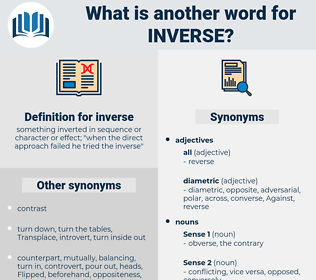 inverse, synonym inverse, another word for inverse, words like inverse, thesaurus inverse