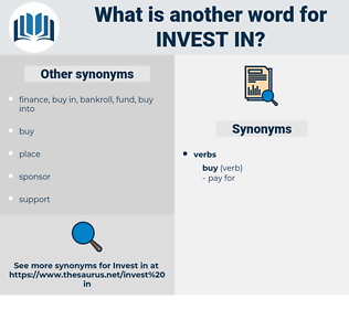 invest in, synonym invest in, another word for invest in, words like invest in, thesaurus invest in