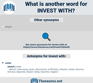 invest with, synonym invest with, another word for invest with, words like invest with, thesaurus invest with