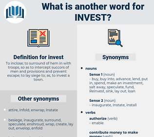 invest, synonym invest, another word for invest, words like invest, thesaurus invest