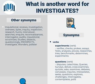 investigates, synonym investigates, another word for investigates, words like investigates, thesaurus investigates