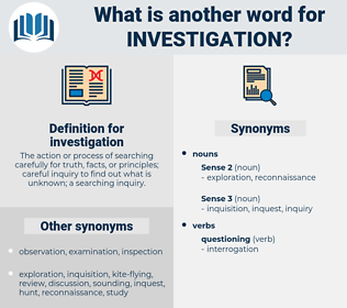 investigation, synonym investigation, another word for investigation, words like investigation, thesaurus investigation