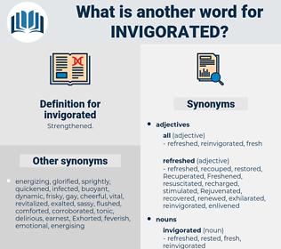 invigorated, synonym invigorated, another word for invigorated, words like invigorated, thesaurus invigorated