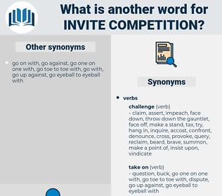 invite competition, synonym invite competition, another word for invite competition, words like invite competition, thesaurus invite competition