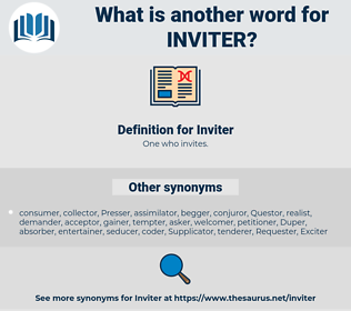 Inviter, synonym Inviter, another word for Inviter, words like Inviter, thesaurus Inviter