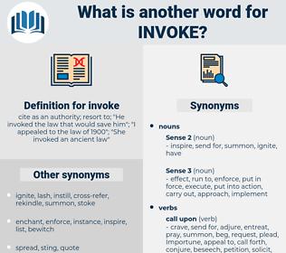 invoke, synonym invoke, another word for invoke, words like invoke, thesaurus invoke