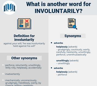 involuntarily, synonym involuntarily, another word for involuntarily, words like involuntarily, thesaurus involuntarily
