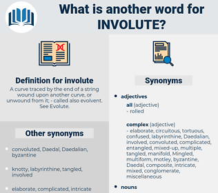 involute, synonym involute, another word for involute, words like involute, thesaurus involute