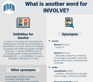 involve, synonym involve, another word for involve, words like involve, thesaurus involve