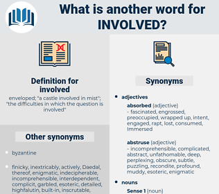 involved, synonym involved, another word for involved, words like involved, thesaurus involved