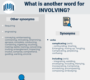 Involving, synonym Involving, another word for Involving, words like Involving, thesaurus Involving