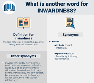 inwardness, synonym inwardness, another word for inwardness, words like inwardness, thesaurus inwardness
