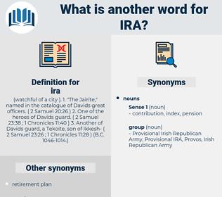 ira, synonym ira, another word for ira, words like ira, thesaurus ira