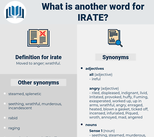 irate, synonym irate, another word for irate, words like irate, thesaurus irate