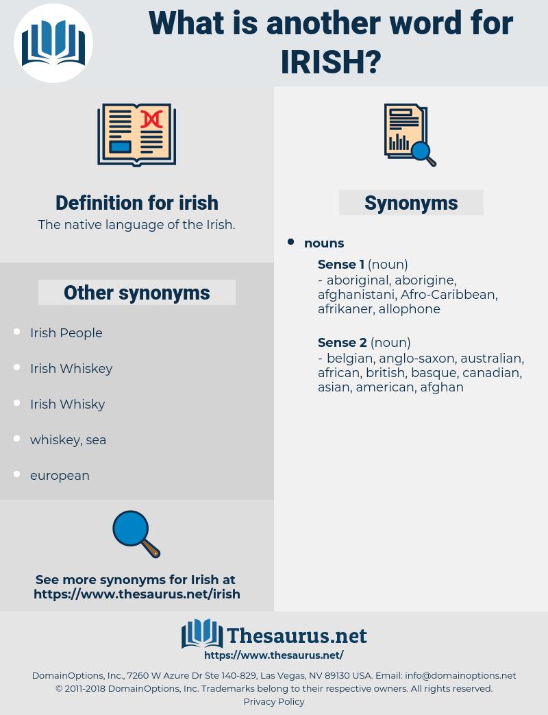 irish, synonym irish, another word for irish, words like irish, thesaurus irish