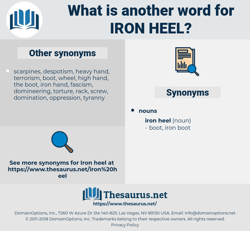 iron heel, synonym iron heel, another word for iron heel, words like iron heel, thesaurus iron heel