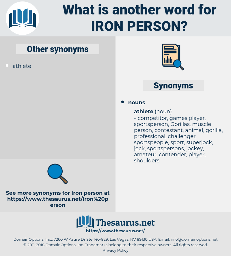 iron person, synonym iron person, another word for iron person, words like iron person, thesaurus iron person