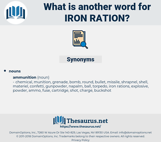 iron ration, synonym iron ration, another word for iron ration, words like iron ration, thesaurus iron ration