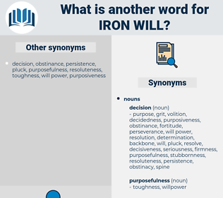 iron will, synonym iron will, another word for iron will, words like iron will, thesaurus iron will