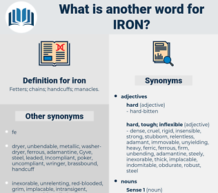 iron, synonym iron, another word for iron, words like iron, thesaurus iron