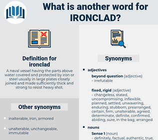 ironclad, synonym ironclad, another word for ironclad, words like ironclad, thesaurus ironclad