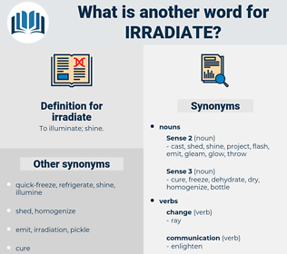 irradiate, synonym irradiate, another word for irradiate, words like irradiate, thesaurus irradiate