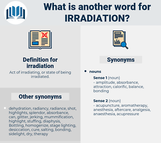irradiation, synonym irradiation, another word for irradiation, words like irradiation, thesaurus irradiation