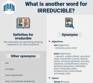 irreducible, synonym irreducible, another word for irreducible, words like irreducible, thesaurus irreducible
