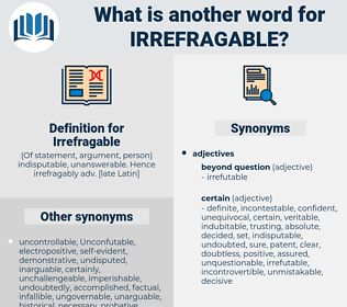 Irrefragable, synonym Irrefragable, another word for Irrefragable, words like Irrefragable, thesaurus Irrefragable