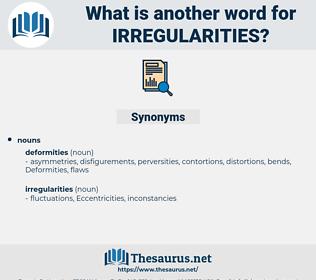 Irregularities, synonym Irregularities, another word for Irregularities, words like Irregularities, thesaurus Irregularities