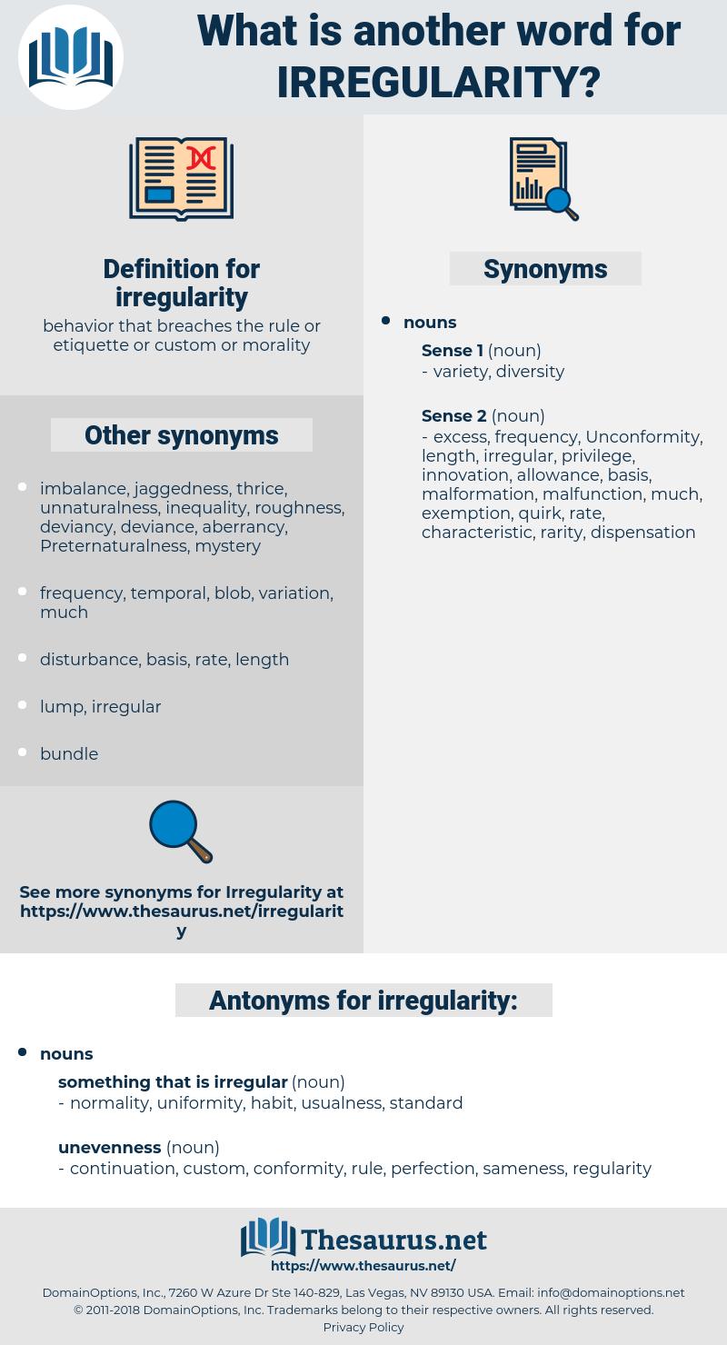 irregularity, synonym irregularity, another word for irregularity, words like irregularity, thesaurus irregularity