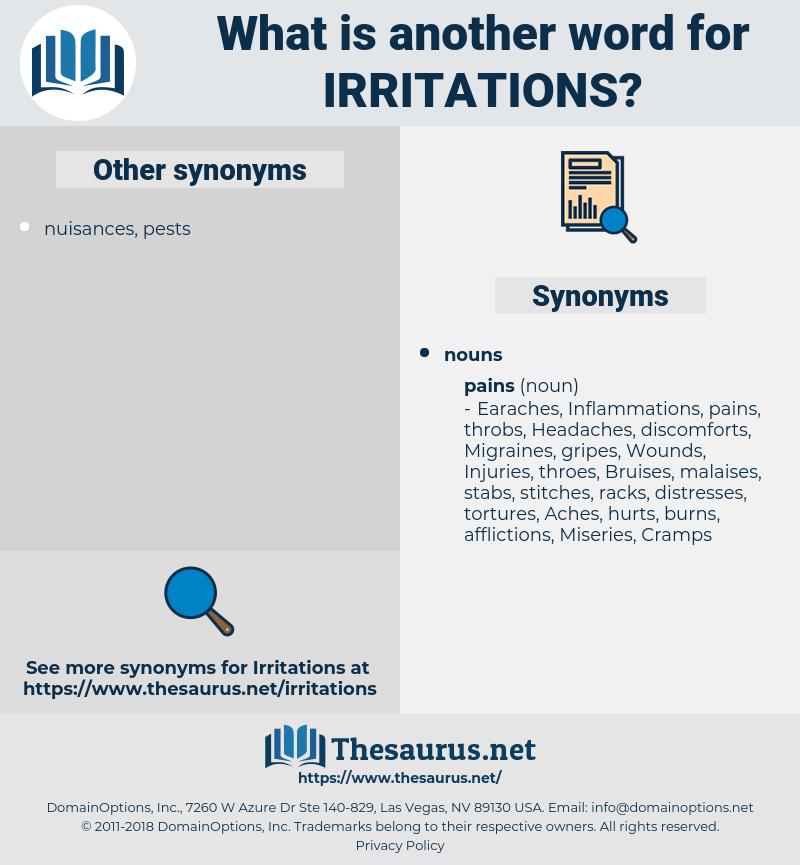 irritations, synonym irritations, another word for irritations, words like irritations, thesaurus irritations
