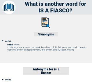 is a fiasco, synonym is a fiasco, another word for is a fiasco, words like is a fiasco, thesaurus is a fiasco