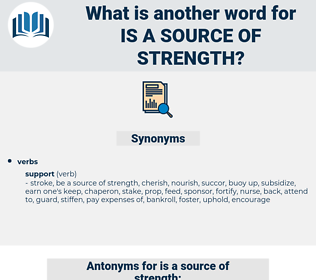 is a source of strength, synonym is a source of strength, another word for is a source of strength, words like is a source of strength, thesaurus is a source of strength