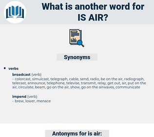 is air, synonym is air, another word for is air, words like is air, thesaurus is air