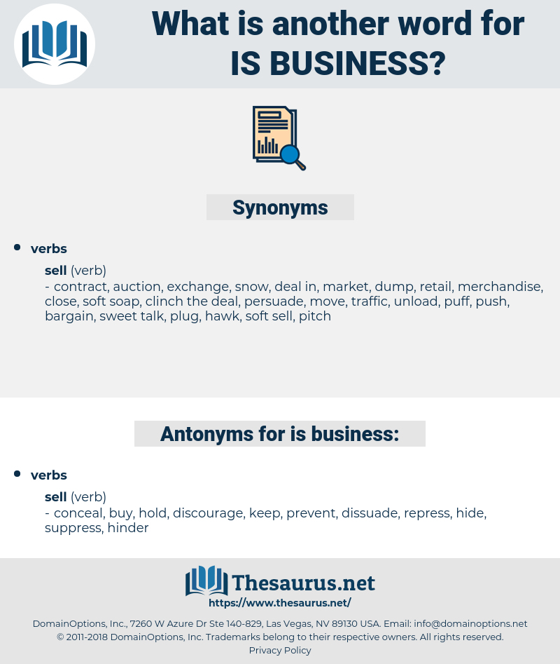 is business, synonym is business, another word for is business, words like is business, thesaurus is business